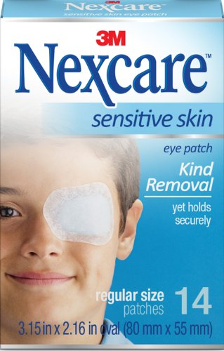Nexcare Sensitive Skin Regular Orthoptic Eyepatch (Pack of 3) (Nexcare Hypoallergenic Eye Patch)