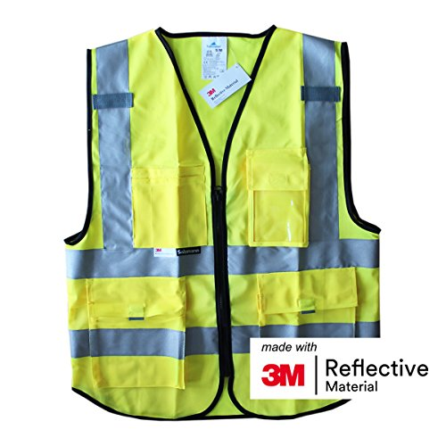 Salzmann 3M Multi Pocket Safety Vest Meets ANSI/ISEA10