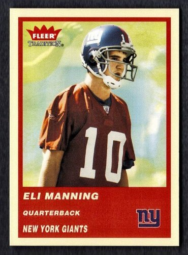 2004 Fleer Tradition Eli Manning Rookie Card At Amazons