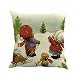 "Software : Christmas Throw Pillowcase, Kimloog Cute Snowman And Snowflakes Sofa Bed Home Decoration Linen 18x18"" Pillow Cushion Cover (18X18"", E)"