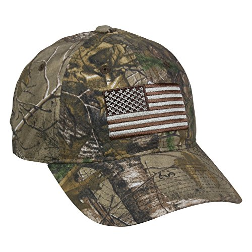 Outdoor Cap Men's Camouflage Americana Cap, RT Xtra, One Size (Realtree Flag)