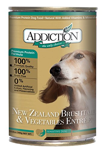 Addiction New Zealand Brushtail & Vegetables Grain Free Canned Dog Food, 13.8 Oz. (12-Pack)
