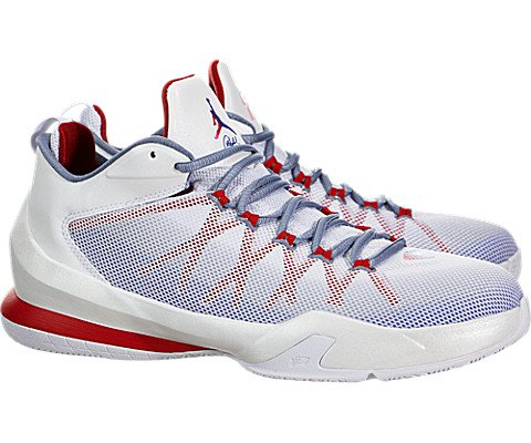 Nike Jordan Men's Jordan CP3.VIII AE White/Game Royal/Sprt Rd/Cl Bl Basketball Shoe 9.5 Men US