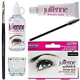 Julienne Eyelash Eyebrow Tinting Kit Dye Midnight Black Brush Tint Dish Oxidant by Julienne