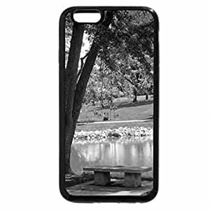 iPhone 6S Case, iPhone 6 Case (Black & White) - Sitting in the Park
