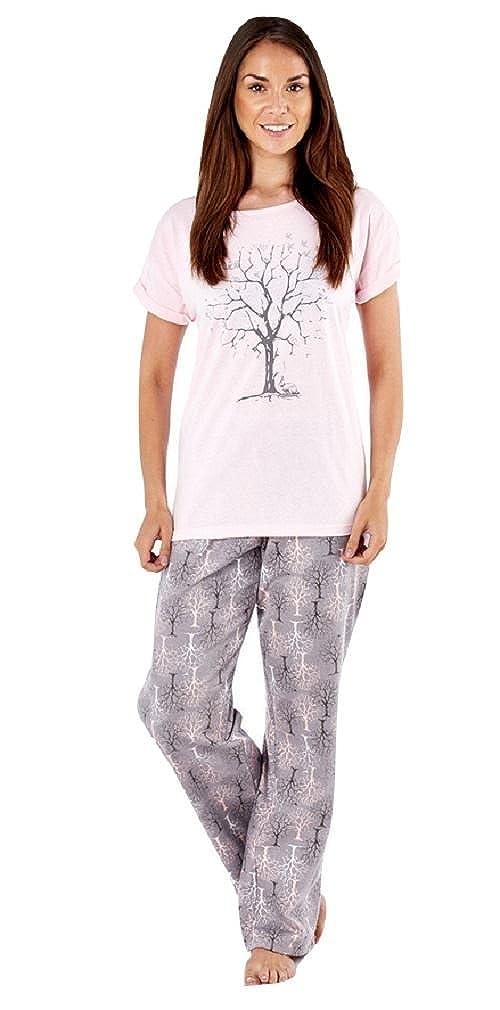 Womens Ladies 100% Pure Cotton Winter Woodland Short Sleeve Pyjamas LN684   Amazon.co.uk  Clothing 5393b4db7907