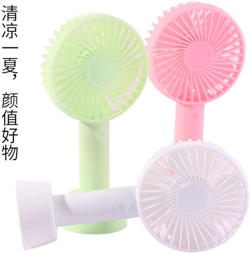 Portable Mini Fanmini Electric Fan Handheld Small Fan Portable Fan Dormitory Desktop USB Charging@White USB Cable