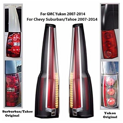 (JDMSPEED New LED Tail Light For 2007-2014 Chevy Tahoe/ 07-14 Chevy Suburban/ 07-14 GMC Yukon/ 07-14 GMC Yukon Denali