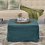 Handy Living Space Saving Folding Ottoman Sleeper