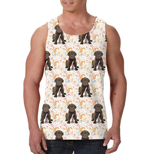 - LIN. Men Boys Puppy Chocolate Lab Kisses Sleeveless Vest T-Shirts Summer Jersey Top Tees Regular-Fit Vest Exercise Yoga Quick Dry SweatproofWorkwear - 3D Printing