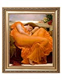 DecorArts - Flaming June, Frederic Leighton Classic Art. Giclee Prints Framed Art for Wall Decor. Framed size: 26x30""
