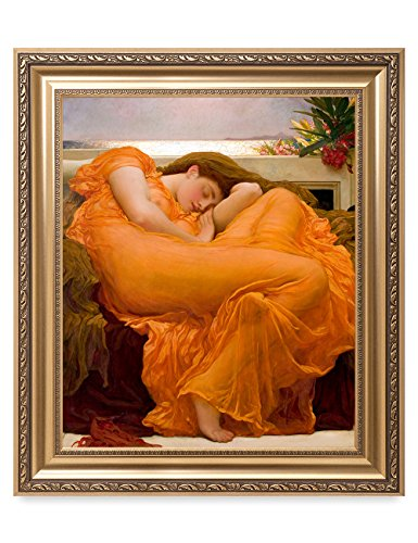 DecorArts - Flaming June, Frederic Leighton Classic Art. Giclee Prints Framed Art for Wall Decor. Framed size: 26x30