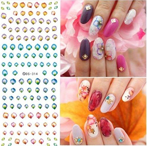 1 Sets Harajuku Elements Fantacy Flower Nail Art Stickers Wa