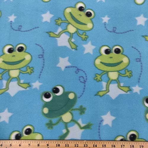 Printed Fleece Fabric - 2 Yards (Frogs) ()