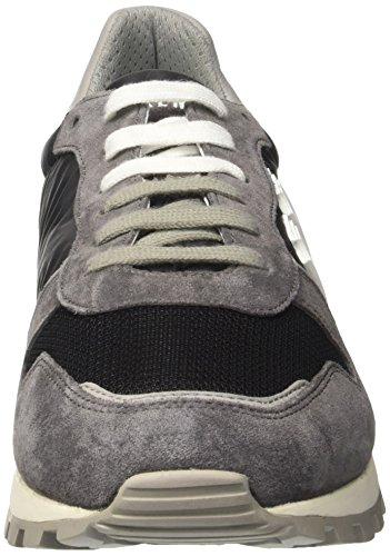 BIKKEMBERGS Herren Numb-Er 856 Sneaker Blau (Blue/Grey)