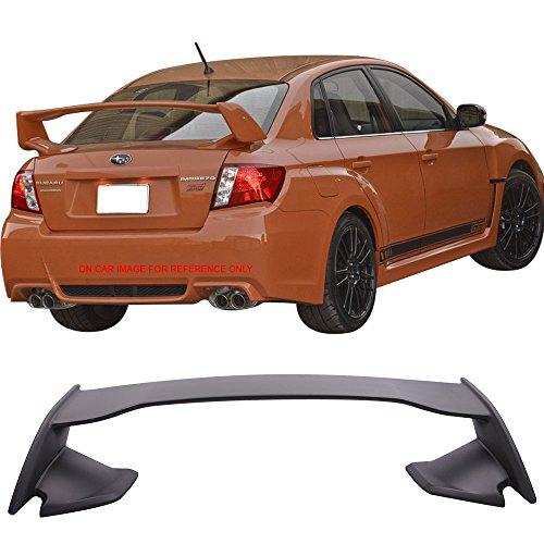 Trunk Spoiler Fits 2008-2014 Subaru WRX 2008-2011 Impreza STI | STI Style ABS Unpainted Trunk Boot Lip Spoiler Wing Deck Lid By IKON MOTORSPORTS | 2009 2010 2012 (Wrx Sti Wing)