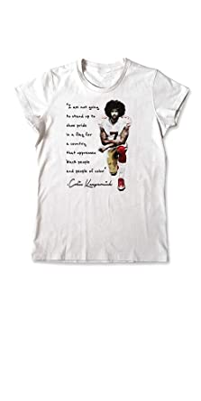 ba95dc89e Colin Kaepernick T-Shirt I Stand With Kap Kneeling Quote Women Tee (Small)