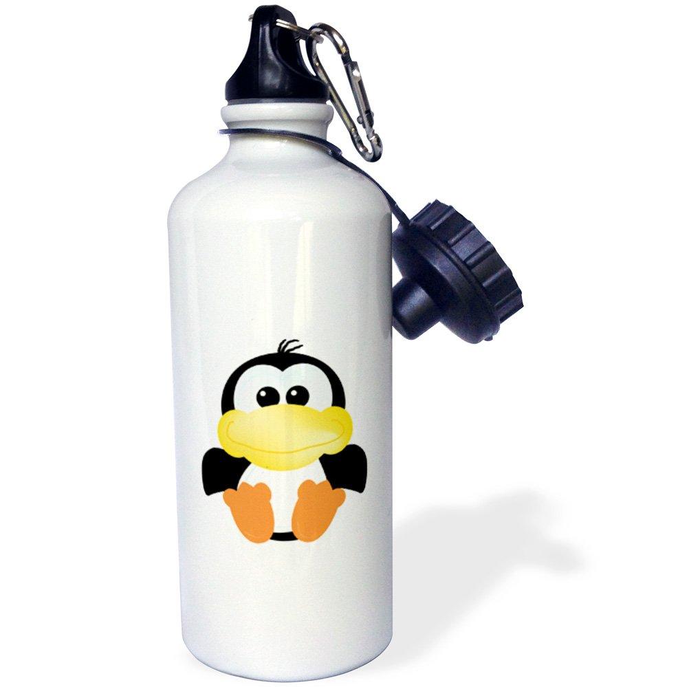 3dRose 1 WB 102119 _ 1 3dRose I corazón Amor ovejas Cartoon Deportes Botella de Agua, 21 oz, Blanco 8e1fc3
