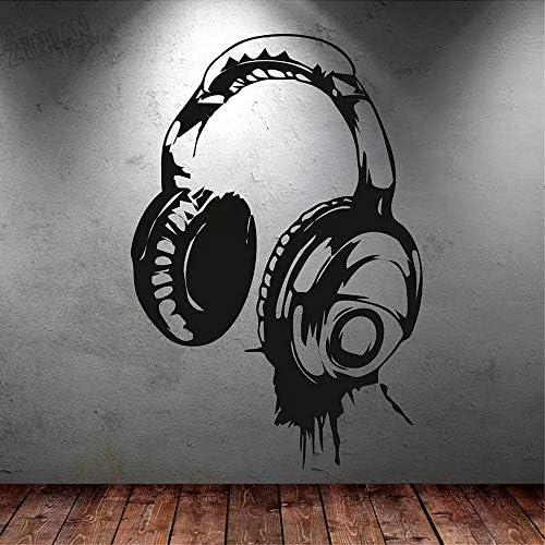DJ Rock Kopfhörer Genießen Sie Musikspiel Headset Klassenzimmer Wandaufkleber Vinyl Wandtattoos Schlafzimmer Spielzimmer Club Studio Bar Home Decoration Kunst Wandplakat