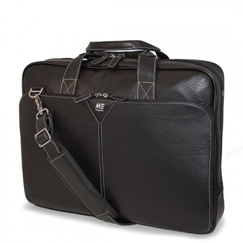 Mobile Edge Deluxe Leather Briefcase- 16-Inch PC/17-Inch MacBook Pro by Mobile Edge