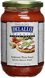 DeLallo Imported Italian Pizza Sauce, 12.3-Ounce Jars (Pack of 6)