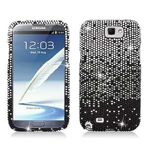 Aimo Wireless SAMNOTE2PCDI198 Bling Brilliance Premium Grade Diamond Case for Samsung Galaxy Note 2 N7100 - Retail Packaging - Black