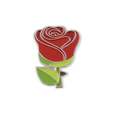 Amazoncom Red Rose Emoji Flower Romance Valentines Day Enamel
