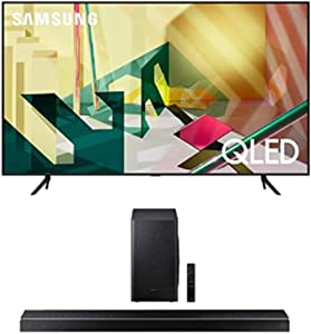 SAMSUNG 65-inch Class QLED Q70T Series - 4K UHD Dual LED Quantum HDR Smart TV with Alexa Built-in + HW-Q60T 5.1ch Soundbar with 3D Surround Sound and Acoustic Beam (2020)