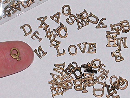 Tiny Letters - 26pc SET Tiny Little Letter alphabet floating miniatures words Love wisdom charm Jewelry Making Supply Pendant Bracelet DIY Crafting by Wholesale Charms
