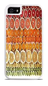 Candy Fruit Lemons Oranges Grapefruit White 2-in-1 Protective Case with Silicone Insert for Apple iPhone 5 / 5S