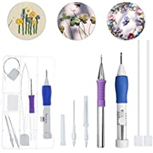 Magic Embroidery Pen, ARTISTORE Punch Needle Set, Embroidery Stitching Punch Needle Pen with Case DIY Craft Knitting Sewing Tool for Embroidery