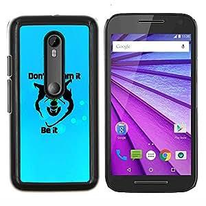 "Be-Star Único Patrón Plástico Duro Fundas Cover Cubre Hard Case Cover Para Motorola Moto G (3rd gen) / G3 ( Sueños motivación inspirada Lobo Cita"" )"
