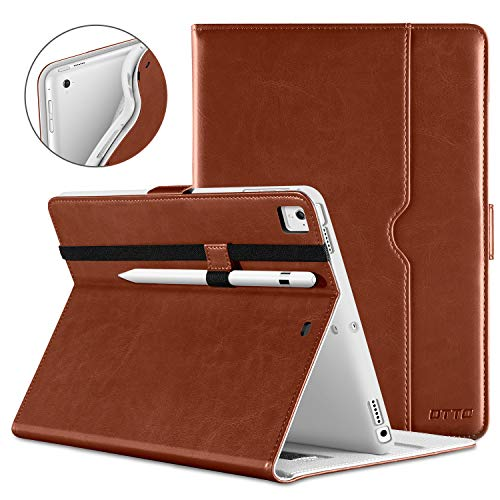 - DTTO iPad 9.7 Inch 5th/6th Generation 2018/2017 Case with Apple Pencil Holder, Premium Leather Folio Cover Case for Apple iPad 9.7 inch [Auto Sleep/Wake], Also Fit iPad Pro 9.7/Air 2/Air - Brown