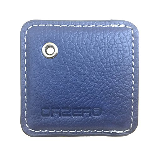 Tracker Drop - Orzero Cover and Key Chain For Tile Mate Finder Stylish Leather Case Protected From Scratch Wet Dust (Tile Finder Not Included) - Blue