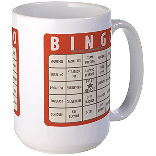 Bingo Large Cup Gifts for Men Motivational Coffee Mugs Funny Unique Ceramic Mug Cup 11oz