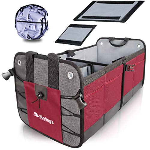 Starling's Car Trunk Organizer - Durable Storage SUV Cargo Organizer Adjustable, Bordeaux ()