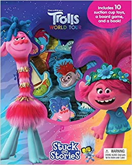 Dreamworks Trolls World Tour Stuck On Stories Phidal Publishing Inc 9782764350966 Amazon Com Books