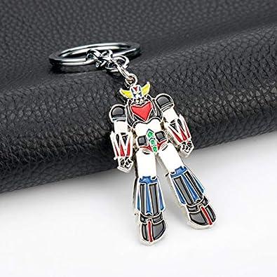 Mazinger Z Ufo Robot Grendizer Keychain Ufo Robo Zinc Alloy Pendant Keyrings Classic Gift Accessories Llavero Chaveiro