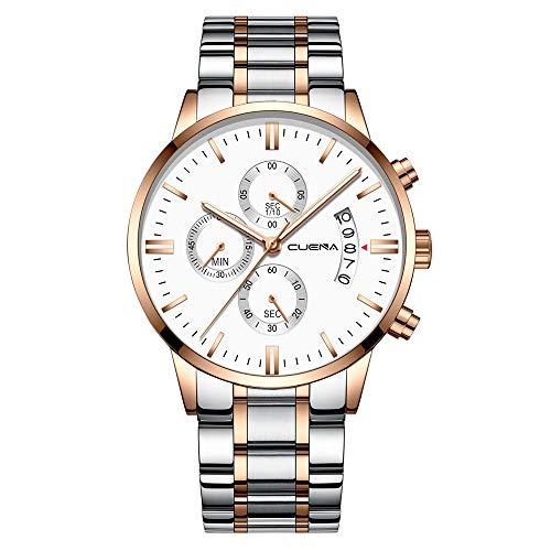 CUENA Top Luxury Brand Men Watch Business Chronograph High Hardness Mineral Glass Watch Quartz Waterproof Military ()
