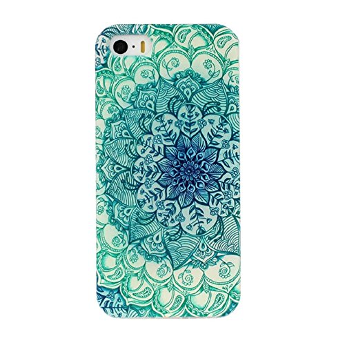 Changeshopping(TM)Floral Pattern Flip Stand TPU Case Cover Back For iPhone5 5s