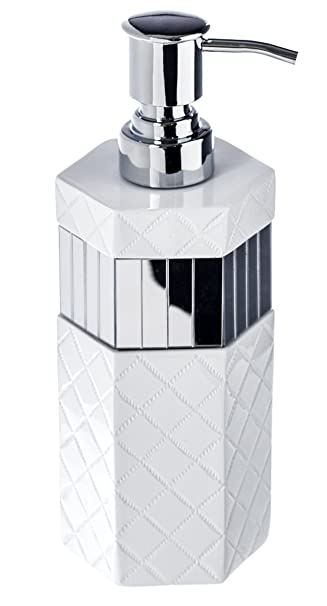 Quilted Mirror Hand Soap Dispenser 3 X 3 X 7 9 Countertop