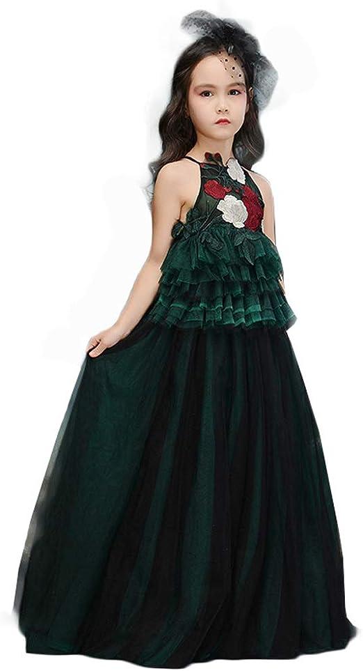 JIE. Vestido de los niños Princesa Vestido niña Modelo Gata Traje ...