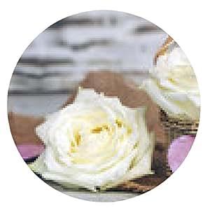 alfombrilla de ratón Rose con el corazón - ronda - 20cm