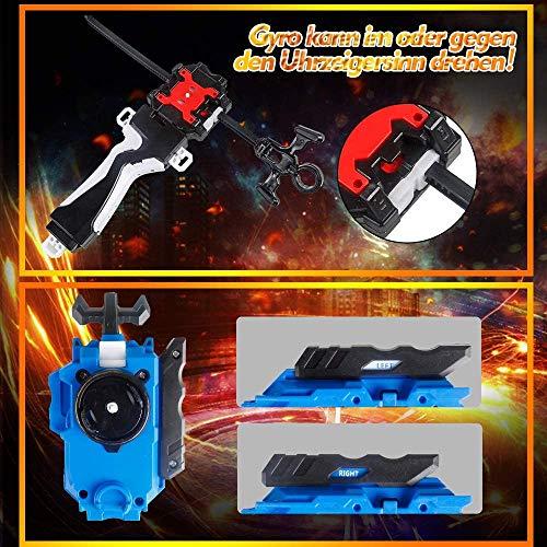 Innoo Tech Burst Peonzas 8 Pcs Gyro Spinning Fusión 4D Conjuntos de Metal, Launcher con Estadio, Regalo para niños
