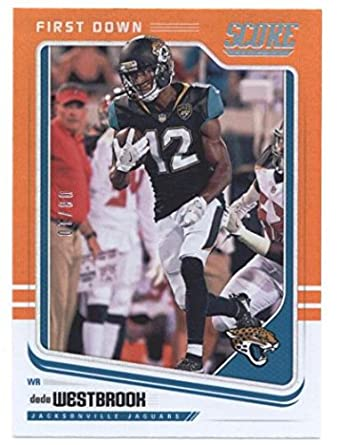 f53899a40 2018 Score First Down  150 Dede Westbrook Jaguars NFL Football Card 10 NM-