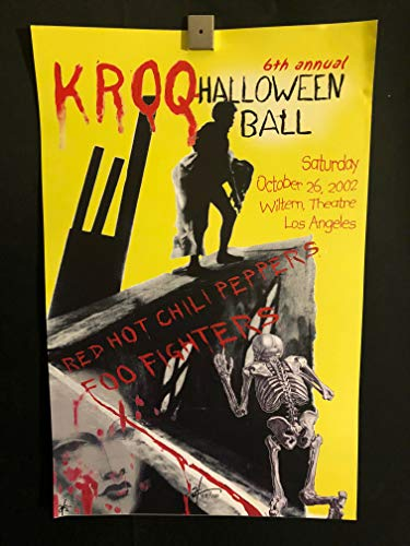 Foo Fighters Red Hot Chili Peppers 2002 Los Angeles Halloween Wiltern Theatre Concert Poster, Signed/Numbered, 88/100, Herrera, 10/26/02