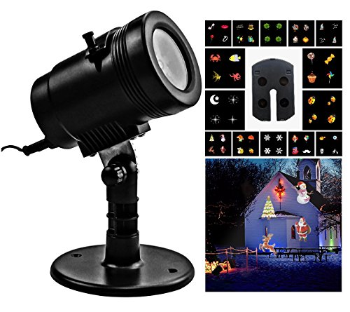 Tongta LED Projector Light with 14 Switchable Patterns/ Slides,Waterproof Landscape Outdoor/Indoor Spotlight for Halloween, Christmas, Holiday, Party, Garden (Halloween Decorations Rentals)
