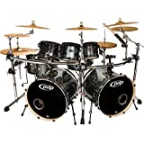 PDP Double Drive 8-Piece Shell Pack Gray Metal