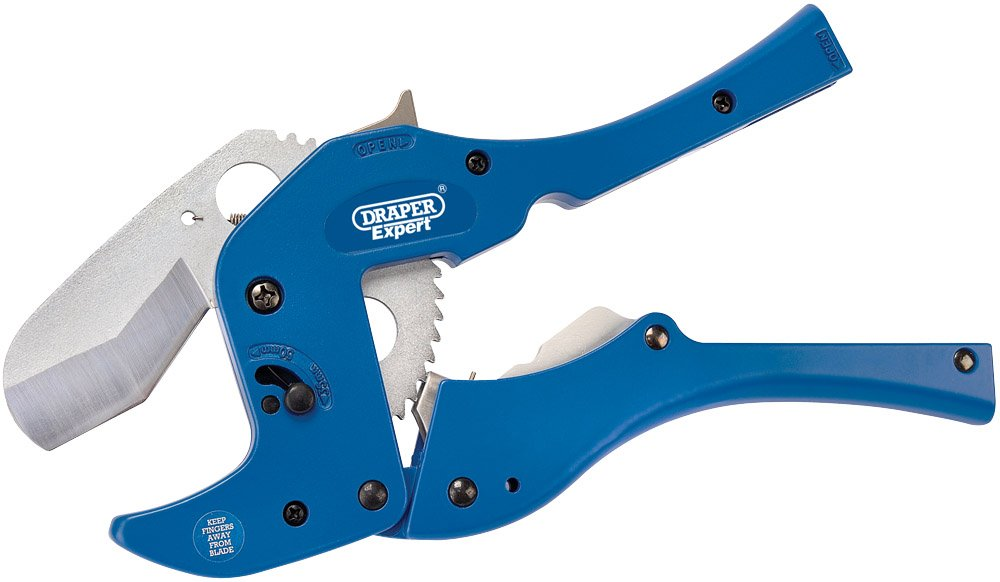 Draper 54465 6-50mm Plastic/Vinyl Pipe Cutters Hand Tools Plumbing Tools Pipe & Tube Cutters