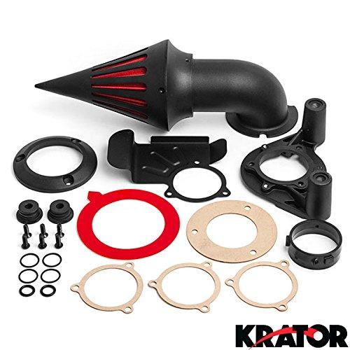 Krator Black Spike Air Cleaner Intake Filter For 2011-2012 Harley Davidson Dyna Touring Models